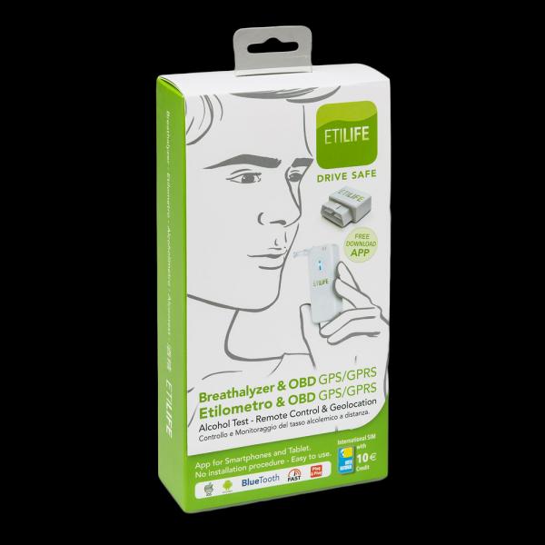 pacchetto etilife etilometro + OBd controllo tasso alcolico
